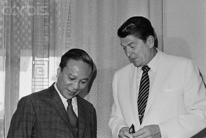 Ronald Reagan with President Thieu