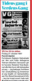 Tidens gang VG 2017 1967 fascister